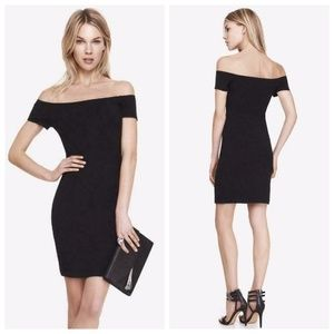 NWT Express Black Off Shoulder Bodycon Dress